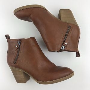 Universal Thread Brown Ankles Booties Size 7